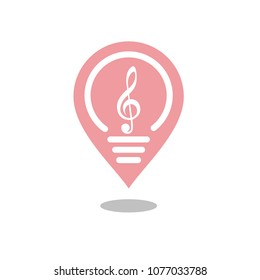 Place of Music Creativity logo design inspiration