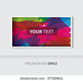 place text in vector, abstract rectangle template design / presentation table background slide