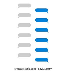 Place your own text in the message boxes