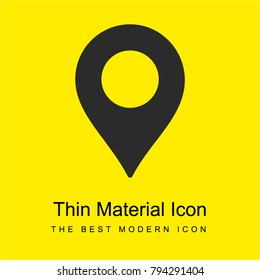 Placeholder for map bright yellow material minimal icon or logo design