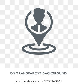 placement icon. Trendy flat vector placement icon on transparent background from General collection. High quality filled placement symbol use for web and mobile