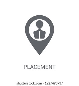 placement icon. Trendy placement logo concept on white background from General collection. Suitable for use on web apps, mobile apps and print media.