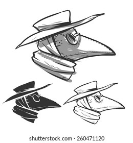 plague doctor mask profile