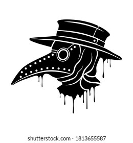 Plague doctor mask. Steampunk mask with beak. Vector clipart