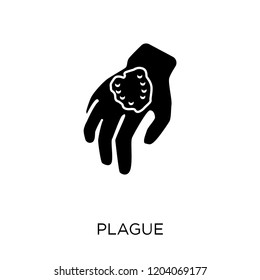 Plague icon. Plague symbol design from Diseases collection. Simple element vector illustration on white background.