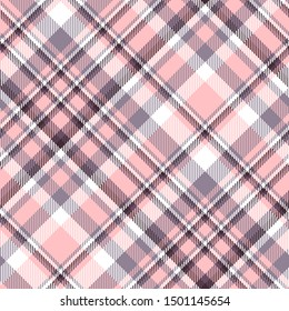 Plaid check patern in pastel pink, mauve, purple, maroon and white.