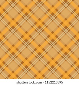 Plaid Check Seamless Pattern - Yellow and brown checkered plaid flannel design