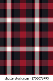 Plaid material, Seamless Pattern, Vector sketch