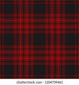 Plaid pattern in burgundy and black. Seamless fabric texture.