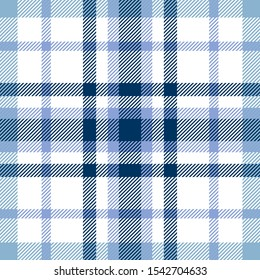 Plaid pattern in clair-de-lune, pastel blue, navy and white.