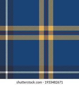 Plaid pattern seamless vector illustration. Nautical Plaid for fashion textile design.
