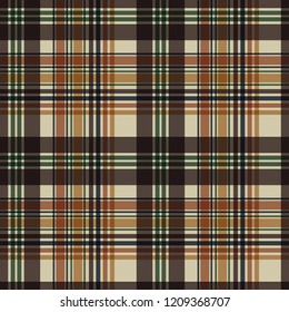 Plaid Seamless Pattern - Plaid design in a variety of autumn colors
