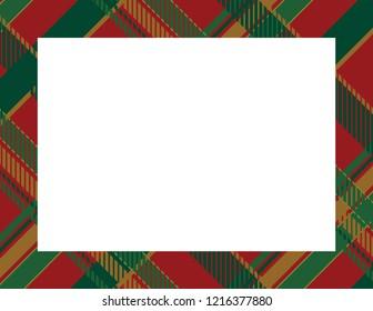 Plaid Tartan Frame to use as a background