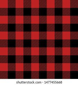 Plaid textile seamless background lumberjack cloth vector isolated illustration.