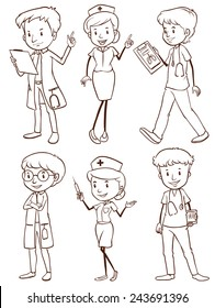 Nurse Drawing Images Stock Photos Vectors Shutterstock