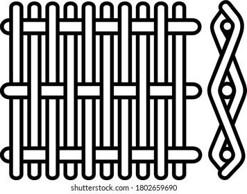 Plain dutch weave. Vector outline icon.