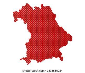 Plain map of Bavaria