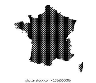 Plain map of France