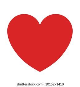 Plain Red Heart on White Background Vector Illustration 1