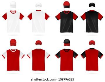 Plain t-shirt template.