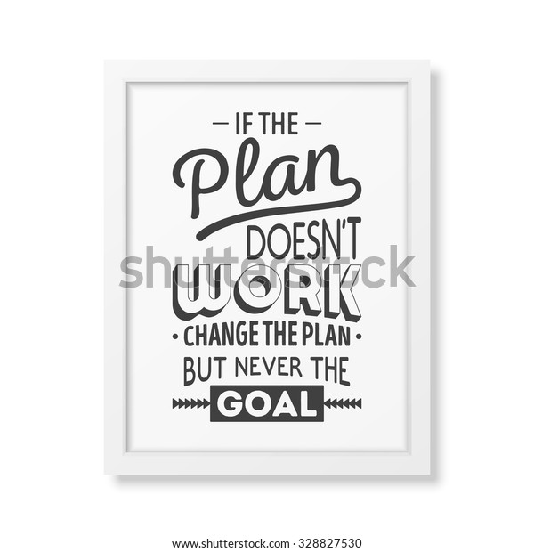 Plan Does Not Work Change Plan Stock Vector (Royalty Free