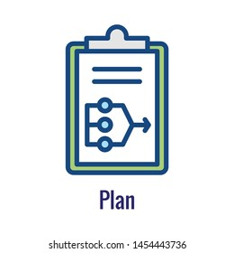 Plan Icon - Dev Ops Icon Showing  aspect of the process