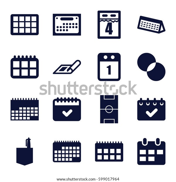 plan icons set. Set of 16 plan filled icons such as plan, office room, circle intersection, calendar, football pitch, 1st day calendar
