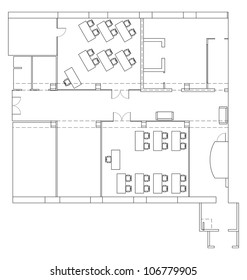 Plan for office space. Vector EPS10