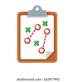 plan tactic iconplan tactic icon on white background. Vector Illustration.
