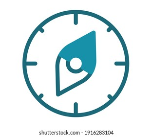 plan time line route single isolated icon with solid line style