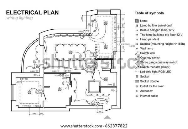 Plan Wiring Lighting Electrical Schematic Interior Stock ... on commercial electrical symbols for blueprints, electrical blueprint reading, electrical lighting symbols blueprint, electrical receptacle symbols, electrical switch symbols, electrical print symbols, electrical plan symbols, electrical power symbols, electrical schematic symbols, electrical gfi meaning, network jack symbols for blueprints, electrical symbols cad blocks, standard electrical symbols for blueprints, electrical symbols and meanings, electrical symbol icon, electrical and electronic symbols pdf, electrical wiring symbols for blueprints, residential electrical blueprints, electrical diagram symbols wiring blueprints, data symbols for blueprints,