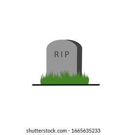 Plan Your Epitaph Day cartoon hand drawn style flat vector design illustrations. Concept of Stone tombstone rip icon symbol.