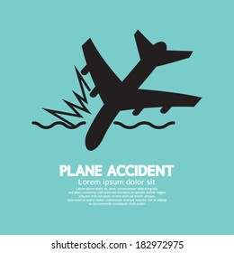 Plane Accident Sinking Into The Sea