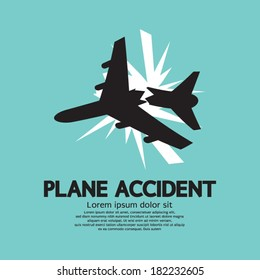 Plane Accident Vector Illustration