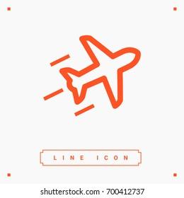 plane aircraft line vector icon