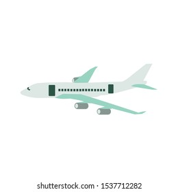 the plane or airplane, transportation vector, flight.