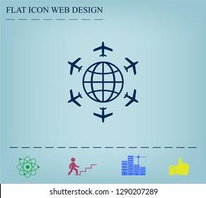 plane around the planet