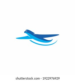 plane in the cloud for Travel logo