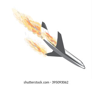 plane crash. plane vector