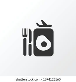 Plane food icon symbol. Premium quality isolated lunch element in trendy style.