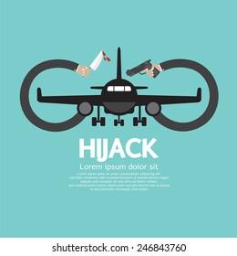 Plane Hijack Concept Abstract Design Vector Illustration