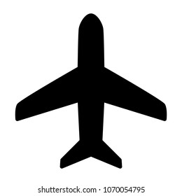 Plane Icon.  96x96 for Web Graphics and Apps.  Simple Minimal Pictogram. Vector