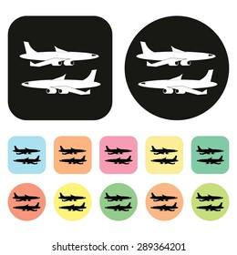 Plane icon. Airplane icon. Vector