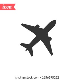 Plane icon. Flight transport symbol. Vector