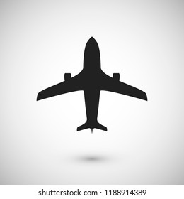 Plane icon. Jet silhouette template. Isolated vector illustration
