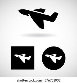 Plane icon Set Vector EPS10, Great for any use.