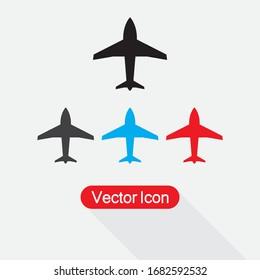 Plane Icon Set Vector Illustration Eps10