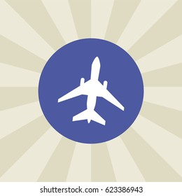 plane icon. sign design. background