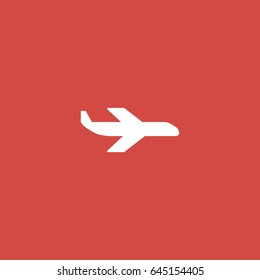 plane icon. sign design. red background