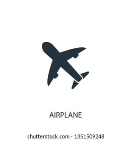 Plane icon. Simple travel element illustration. Holiday symbol design from summer collection. Can be used in web and mobile.